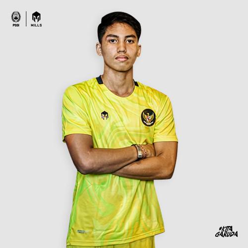 Foto Produk MILLS Timnas Indonesia Jersey Keeper Third Player Isuue 1022GR Yellow - Yellow, M dari MILLS Official