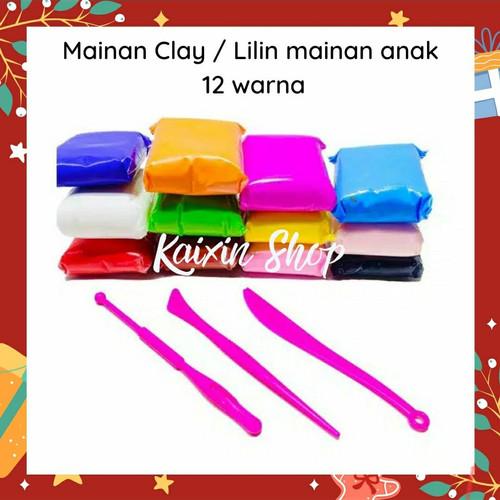 Foto Produk Mainan Lilin Clay Anak Warna 12 in 1 Murah! dari KAIXIN SHOP