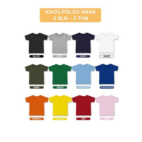 Foto Produk Kaos Polos Anak Kaos Oblong Basic Tee T-Shirt Anak Bayi dari Blossomdell
