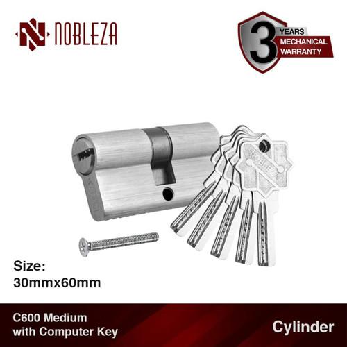 Foto Produk NOBLEZA Cylinder Medium Computer Key Silinder Kunci Komputer Pintu dari Nobleza Hardware