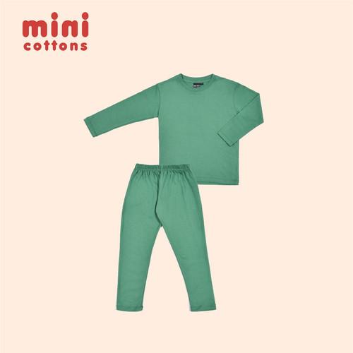 Foto Produk MINI COTTONS PIYAMA ANAK BASIC TEAL GREEN - 1-2 TAHUN dari MINI COTTONS