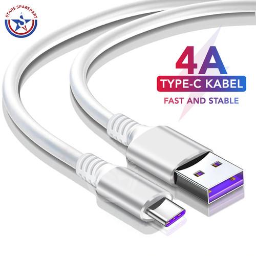 Foto Produk 4A Type C USB Kabel Cable Data Charger Quick Charger Fast Charger Ori - Putih dari Stars Sparepart