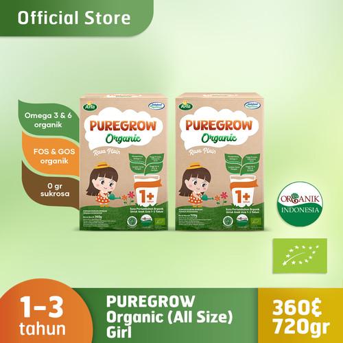 Foto Produk Paket Mix 360gr & 720gr PUREGROW Organic - Susu Formula Organik Girl dari PUREGROW Organic House