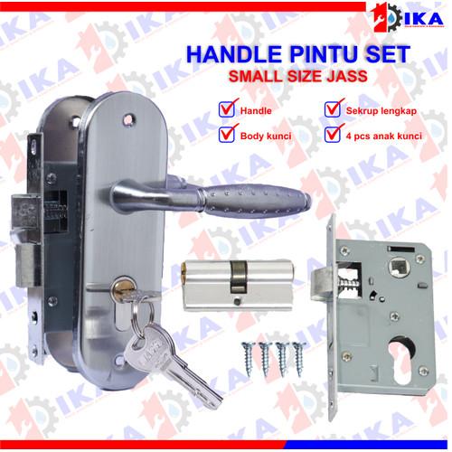 Foto Produk (KOMPLIT) Handle TEBAL 15cm + body kunci pintu set KUALITAS TEBAL TOP - JAZZ 3023SILVER dari Indokaryaabadi