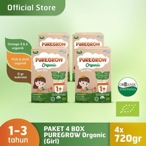 Foto Produk Paket 4 Box PUREGROW Organic - Susu Formula Organik 1-3 thn 720gr Girl dari PUREGROW Organic House
