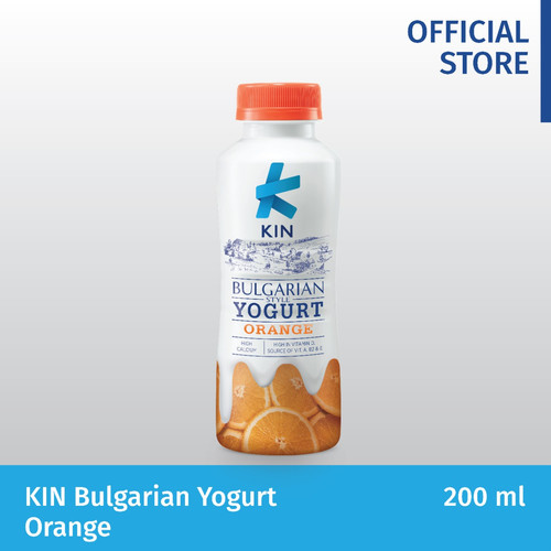Foto Produk KIN BULGARIAN YOGURT ORANGE 200 ML dari Kindairy ID