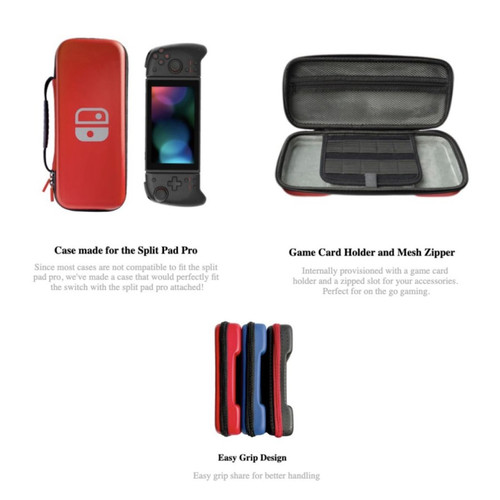 Foto Produk Nintendo Switch Lucky Fox Carrying Case / Tas Pouch Bag Split Pad Pro - Merah dari Suyanto//Liberty Game