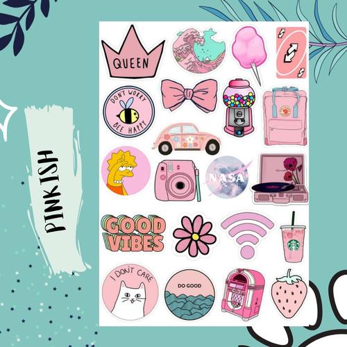 Jual Sticker Aesthetic Tumblr Pink Color Case Hp Laptop S Kota Bekasi Lesliegoods Tokopedia