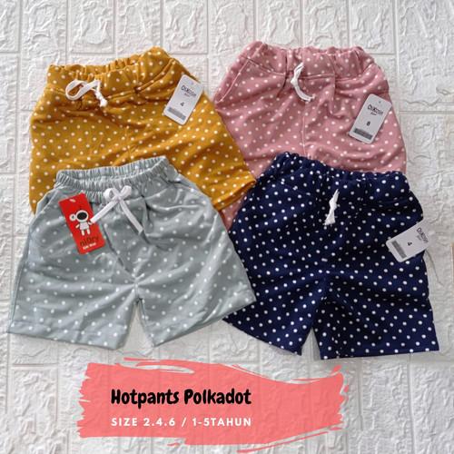 Foto Produk Celana Pendek Harian Anak Perempuan / Hotpants Kolor Polkadot - Random, Size 2 1-2Thn dari belvina
