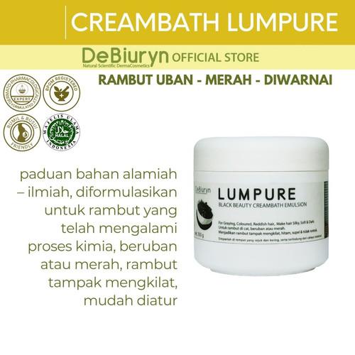 Foto Produk DeBiuryn Lumpure Black Beauty Creambath 350gr - Uban - Diwarnai dari Debiuryn Dermacosmetics