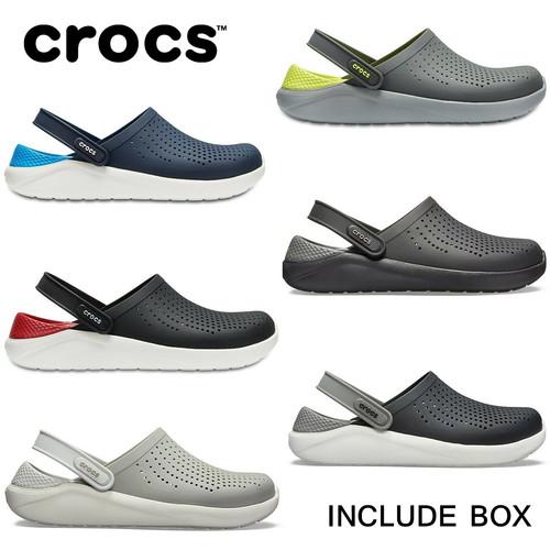 Foto Produk Crocs Literide Clog Sepatu Sandal Pria dan Wanita - Black Grey - Biru, 37 dari Crocs Dan Fitflop