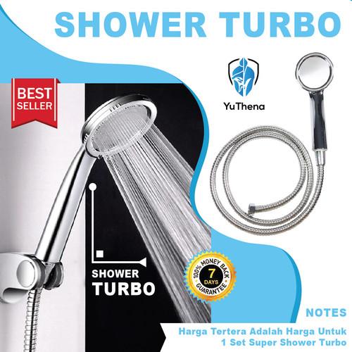 Foto Produk Super Shower Hemat Air Murah - Hand Shower Shower Mandi Turbo dari YuThena Official Store