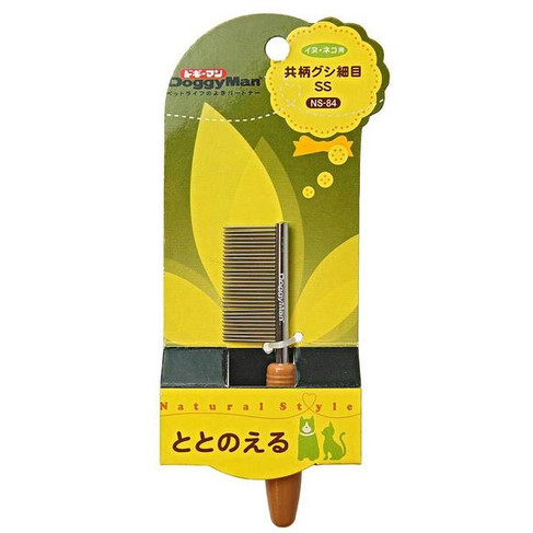 Foto Produk DoggyMan 83984 NS84 Comb with Handle SS Sisir Cat Dog Rabbit Chinchill dari Hime petshop
