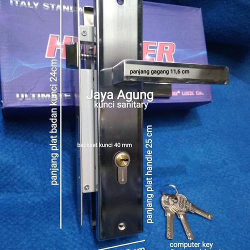 Foto Produk Handle Pintu Rumah Komplit Kunci Standart/Besar Merk HOOVER dari Jaya Agung Kunci Sanitary