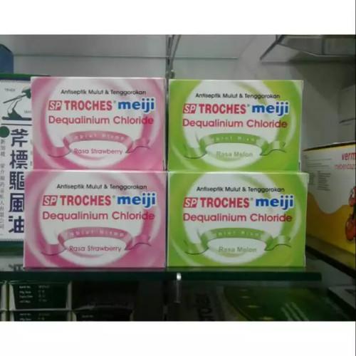 Foto Produk SP-Troches Meiji Melon / Strawberry - Untuk Radang, Sakit Tenggorokan dari Plaza Medika