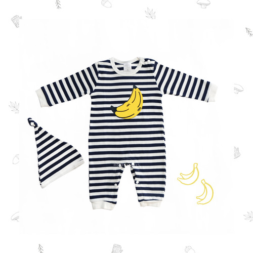 Foto Produk Ohbabydays | Jumper Tangan Panjang | Ready Stock| Banana Stripe Jumper - 6-9 Bulan dari Ohbabydays