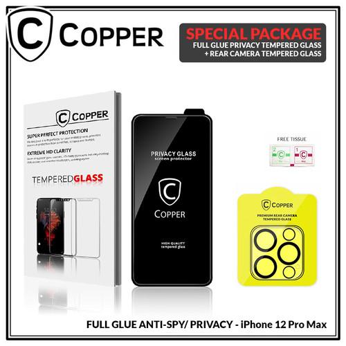 Foto Produk iPhone 12 Pro Max - Bundling Tempered Glass PRIVACY SPY + TG Kamera dari Copper Indonesia