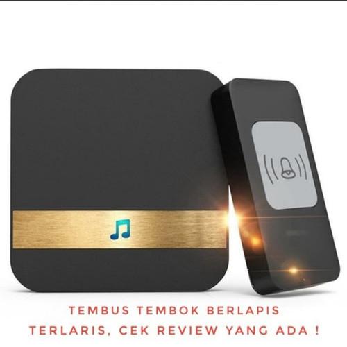 Foto Produk KERUI M523 Wireless Door Bell Set Bel Pintu Rumah Nirkabel Tanpa Kabel - Hightech Hitam dari 7711