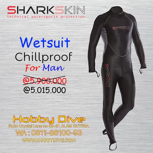 Foto Produk WETSUIT SHARKSKIN CHILLPROOF 1 PC SUIT BACK ZIP - MEN'S - Alat Diving dari Hobby Dive