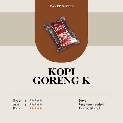 Foto Produk Kopi Delta K Robusta 1kg - biji dari Taman Delta Coffee Roastery (Supplier Kopi)