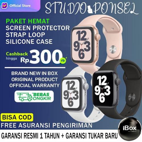 Foto Produk Apple Watch Series SE 2020 44mm 40mm Black Grey, White, Pink Gold 6 - 40MM NON PAKET, White Silver dari Studio Ponsel