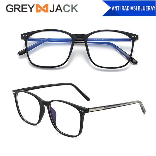 Foto Produk Grey Jack Kacamata Frame antiradiasi blueray dewasa unisex TR90 8242 - C2black doff dari Grey Jack