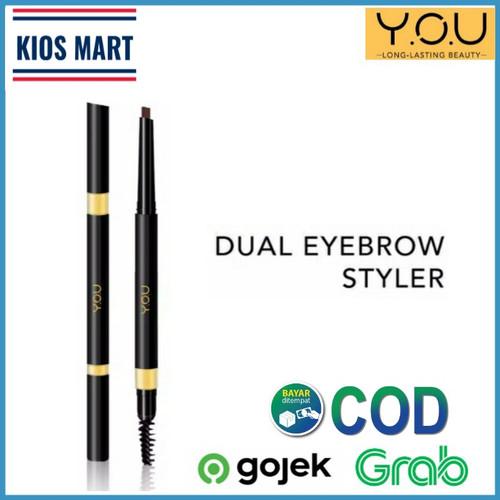 Foto Produk Kosmetik YOU Dual Eyebrow Styler/Pensil Alis Original - Charcoal Grey dari Kios_Mart