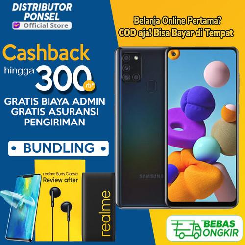 Foto Produk Samsung Galaxy A21s 3GB/32GB & 6GB/64GB Garansi Resmi SEIN Hitam Biru - Non Bundle, 3GB 32GB dari Distributor Ponsel