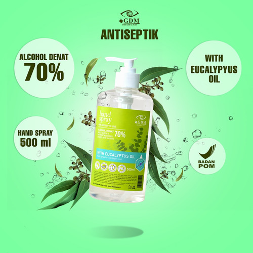 Foto Produk GDM Hand Sanitizer 500 ml Kandungan 70% Alkohol & Eucalyptus BPOM dari Kissforri Official
