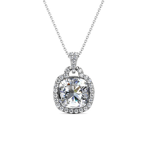 Foto Produk Madison Pendant - Kalung Crystal by Her Jewellery - White Gold dari Her Jewellery