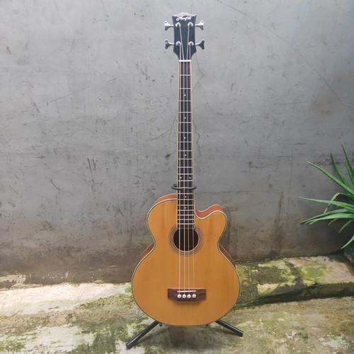 Foto Produk Bass Akustik Elektrik Marfill 4 string ORIGINAL natural glossy dari AMTECH Music Store