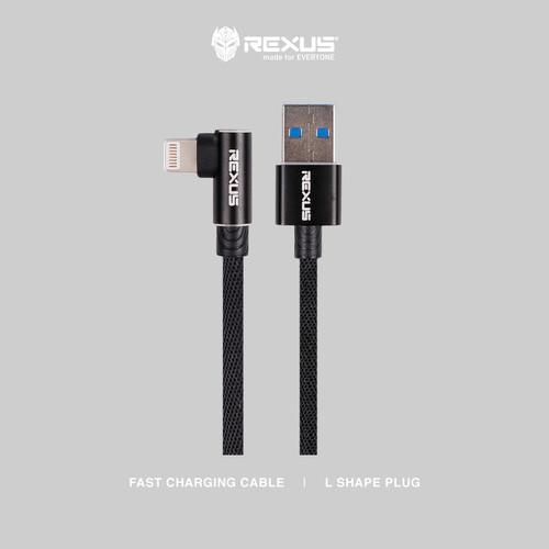 Foto Produk Rexus USB Cable Data CB135C Type C 2M Fast Charging 2.4A - Abu-abu dari Rexus Official Store