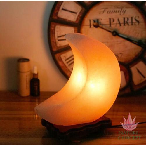 Foto Produk Himalayan Salt Lamp Lampu Kristal Garam Himalaya MOON Shape dari Nature Concept