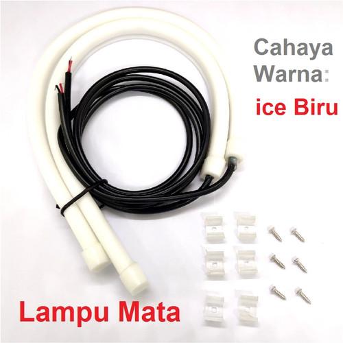 Foto Produk Lampu Alis LED Drl Lampu Runing Turning Led Headlamp Mobil Lampu Depan - MataIceBlue dari Rumix