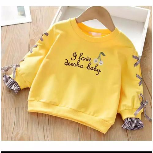 Foto Produk Baju anak/sweater anak perempuan DEESHA BABY Real pict - Kuning, S dari Syafa_ shop