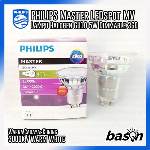 Foto Produk PHILIPS Master LEDspot MV 5W GU10 36D Dimmable 220V - 927 / 930 / 940 - 3000K dari bason