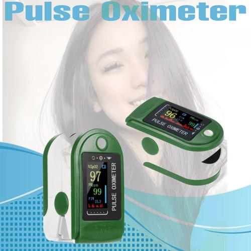 Foto Produk Oximeter fingertip Pulse ujung jari ukur detak jantung LED 4 colors dari Putra Jaya88