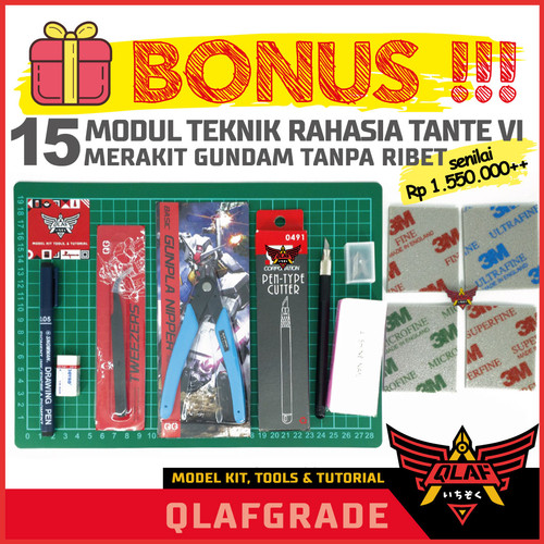Foto Produk Gunpla Gundam Tools Set tool set toolset TOOLKIT LENGKAP dari Wahkhilaf