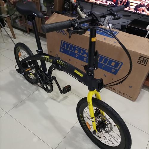 Foto Produk sepeda lipat folding bike maximo piegare cyclo 3.0 tx7 alloy alumunium - Biru dari sepeda viral