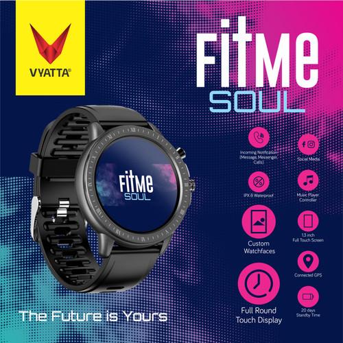 Foto Produk VYATTA Fitme Soul Smartwatch - Custom Watch Face, Full Touch, Metal - Hitam dari VYATTA INDONESIA