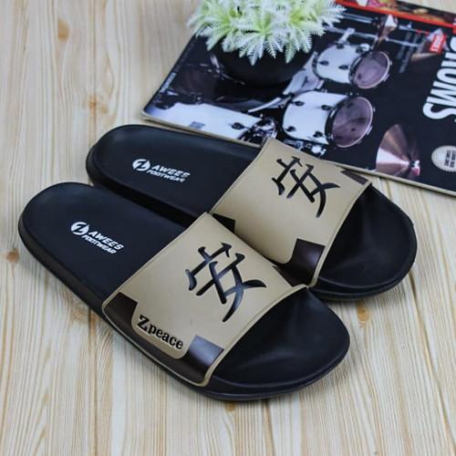 Foto Produk sandal slide/ sandal pria/ sandal kekinian - cream, 39 dari zawsfootwear