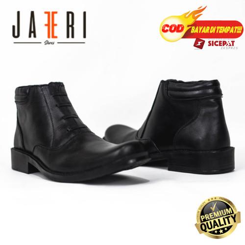Foto Produk Sepatu Pantofel Boots PDH 03 Kulit Sapi Asli Kelas 1 Bukan Imitasi - Hitam, 39 dari Sepatu Pantofel