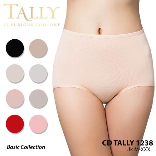 Foto Produk TALLY 1238/1229 Celana Dalam Polos highwaist bahan Katun - L dari Tally Official Store