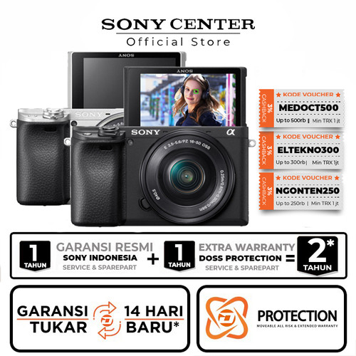 Foto Produk Sony A6400 Kit 16-50mm / Sony Alpha A6400 / Sony Alpha 6400 Kit - Hitam, Unit Only dari Sony Center Official