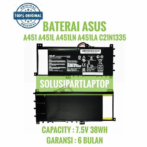 Foto Produk ORIGINAL BATERAI ASUS A451 A451L A451LN A451LB A451LA C21N1335 BLACK dari SolusiPartLaptop