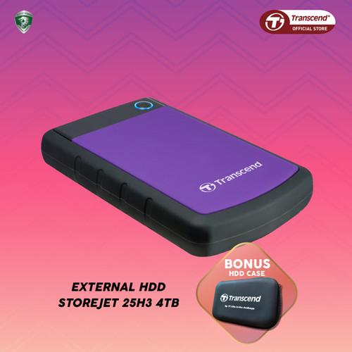 Foto Produk Transcend External HDD StoreJet 25H3 [4TB] - Ungu dari Transcend Indonesia