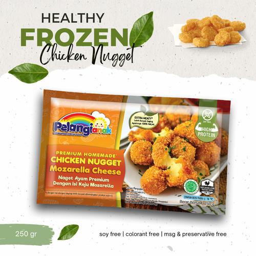 Foto Produk Nugget Ayam Keju Mozarella Leleh Pelangi Halal Non MSG & Non Pengawet dari PELANGI HEALTHY FROZEN FOOD OFFICIAL
