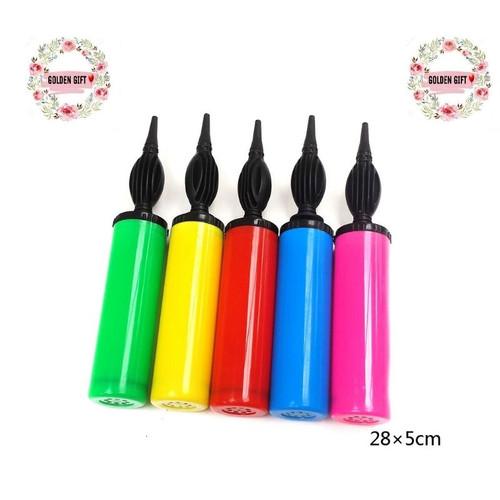 Foto Produk Pompa Balon tangan manual warna warni / Pompa Tangan dari Golden gift