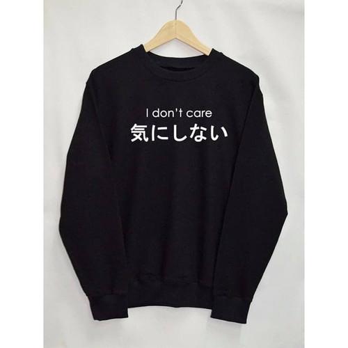 Foto Produk Jaket Sweater Premium I DON'T CARE JAPAN S M L XL 2XL 3XL 4XL 5XL - S dari CV BAMBANG MAS OFFICIAL