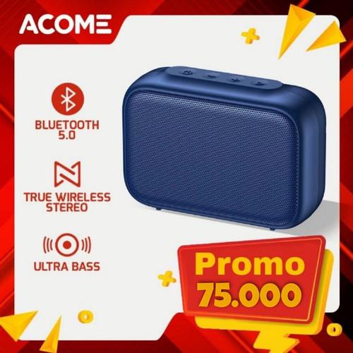 Foto Produk Acome Speaker Bluetooth 5.0 Portable Ultra Bass TWS Garansi Resmi dari Rock Shop Jkrta